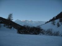 Erste Sonnenstrahlen am Griankopf, wo ich ja letzten Jänner war.