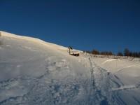 Von Rojen geht es heute auf den Äusseren Nockenkopf, hier auf ca. 2106 komme ich in den Genuss der wenig wärmenden Wintersonne.