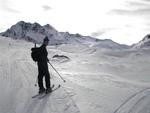 Tolle Landschaft am Weg zu Piz Alpetta durch das lange Tal Maighels