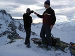 Verdientes Gipfelschnapserl am Piz Alpetta 2858m