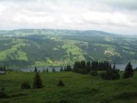 Schöner Blick von der Starketsgund Alpe auf den Alpsee.