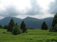Blick zurück zur Starkesgund Alpe auf der Südseite des Alpsees von wo ich aus dem Steigbachtal herüber gekommen bin.