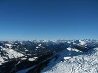 Blick zu den Allgäuer Alpen.