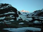 Die Madritschspitze in der morgentlichen Sonne.