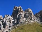 Blick auf den kurz bevorstehenden Klettersteig auf die Cir V Spitze.