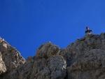 """Ich bereits bei der Einstiegsstelle in den wunderbar """"Felskletterbahren"""" Klettersteig."""