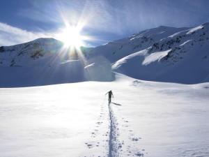 Highlight for album: Elferspitze 2926m - Abbruch auf ca. 2520m wegen extremer Schneebrettgefahr! (I)
