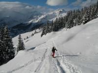 Silvia hat sich schon an den etwas anderen Bewegungsablauf im Gegensatz zum Bergsteigen eingestellt.