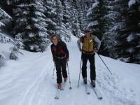 Sonja und Ich beim Aufstieg auf der mittlerweile schon breit ausgetreten Aufstiegsspur.