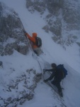 Und dann noch der, bei diesen Bedingungen, interessante Gipfelgrataufschwung.