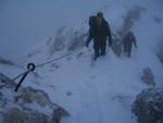 Michael und Robert am Gipfelgrat.