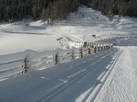 Spuren der letzten ergiebigen Schneefälle.