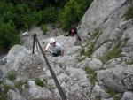 Gleich nach dem Einstieg in den Klettersteig
