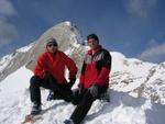 Volker und Ich am Vorgipfel der Neuner Spitze auf Rund 2870m.