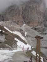 Kommt mir noch bekannt vor vom vorigen Winter die Querung kurz nach dem Rif. Auronzo.