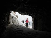 Beim Einstieg in den Klettersteig .
