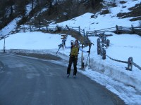 Endlich mal wieder mit Volker und vier Stöcken auf Skitour unterwegs ;-)