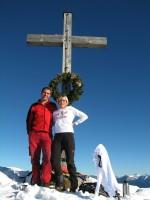 Wieder einmal mit Silvia unterwegs, hier auf der Scheinbergspitze 1926m.