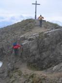 Letzte Kraxlerei unmittelbar vor dem Gipfelkreuz.