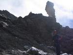 Beeindruckende Felsszenerie beim Aufstieg zum Piz Selva.