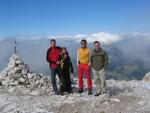 Ich, Anna, Volker und Robert am Piz Selva 2941m
