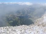 Wunderbarer Tiefblick auf Wolkenstein