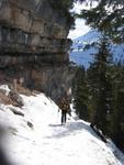 Volker beim Aufstieg durch beeindruckende Landschaft