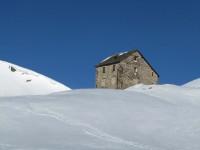Das einstige Zollhaus am Schlinigpass auf ca. 2255m.