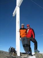 Volker und Ich am Piz Sesvenna 3204m.