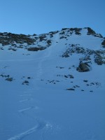 Traumhafte Abfahrt über die Nordostflanke des Piz Sesvenna.