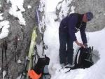 Abbruch auf ca. 2200m, danach aber genialste Abfahrt durch tiefsten frischen Pulver