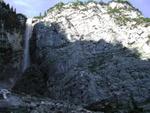 Blick auf den gewaltigen Seebener Klettersteig