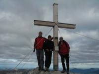 Günther, Rupert und Ich (von rechts) am Widderstein 2533m