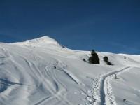Bereits auf der Axamer Kälberalm am Ostfuße des heutigen Ziels, dem Windegg.